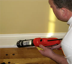 Insulating a wall in a Seaford home for increased energy efficiency
